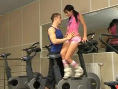 Adorable girl hardcore in the gym movies at sgirls.net