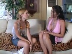 Milf and teen go black for hot fun videos