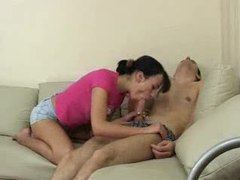 She sucks and rides his sleeping cock videos