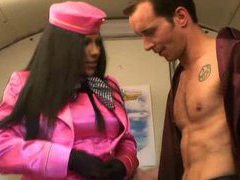 Stewardess in satin sucking on cock movies at kilopics.com