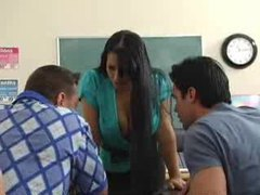 Busty brunette classroom hardcore fuck movies at kilosex.com
