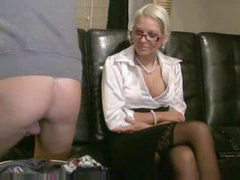 Chick in a satin blouse fucks his ass videos