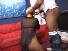 He licks her ass and fucks her black pussy movies