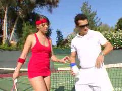Penny flame fucked by her tennis coach movies