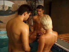 Awesome bisexual threesome pile up movies at adipics.com