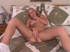Young blonde takes a massive toy in her hole movies at sgirls.net