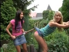 Playful teens have lesbian sex outdoors movies at find-best-lesbians.com