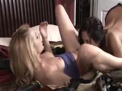 The lesbian sex features lots of kissing movies at sgirls.net