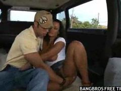 Lisa ann sucking cock in a driving van videos