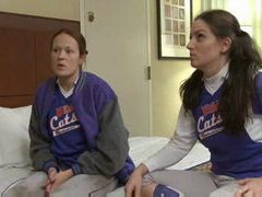 Softball playing babes have lesbian sex clip