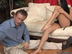 Major footplay scene with a nice footjob clip