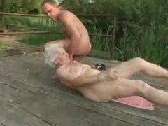 Granny slut fucked on the deck movies at adipics.com