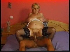 Stockings on chubby granny that wants cock videos