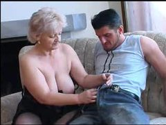 Chubby granny in black stockings nailed movies at find-best-lingerie.com