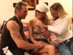 Teen chick does it with milf and her hubby videos