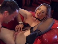 Slender babe in a strip club fucked by customer movies