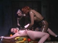 Girl tied to the table and groped by rubber chicks movies at find-best-hardcore.com