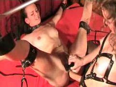Bondage and wild strapon fucking videos