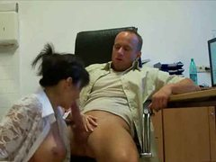 Busty secretary in stockings fucked videos