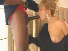 Huge black dick in blonde from classic movie clip