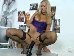 Sultry solo girl rides a big dildo movies at sgirls.net