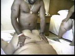 Fat black chick with rolls of flesh fucked clip