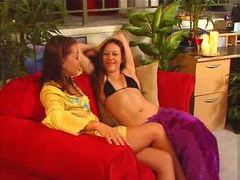 Bikini babes come home from the beach for lesbian sex movies at find-best-babes.com