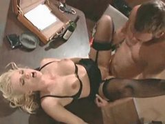 The prisoner has a big cock for the blonde tubes