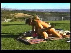Victoria paris in a threesome filmed outdoors movies at freekilomovies.com