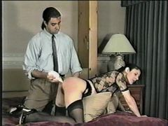 Naughty girl is spanked and her ass toyed videos