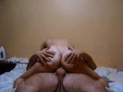 Watch her from behind as she sits on dick videos