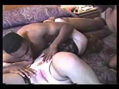 Two black guys fuck mature wife in hotel clip