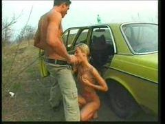 They drive to the country and fuck a blonde slut videos