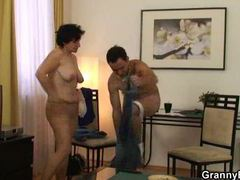 Old brunette involved with a younger man movies