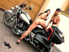 Hot biker chicks having lesbian sex movies at kilosex.com