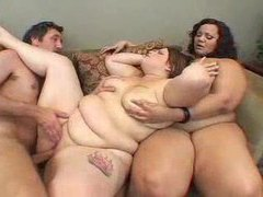 One man playing with two bbw sluts movies at find-best-mature.com