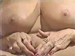 Mature blonde with her enormous clit videos
