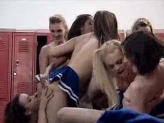 Lesbian cheerleaders in locker room orgy movies at find-best-ass.com