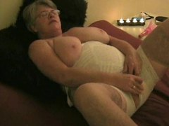 Big mature chick and her white lingerie videos