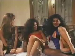 Three lesbians from the 80s play in scene movies at lingerie-mania.com