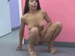 Chick with a lithe body shows her skills videos