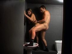 Girl with an amazing body fucked in the bathroom movies at sgirls.net