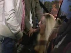Two chicks suck and fuck in a parking lot movies at sgirls.net