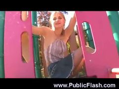 Babe on the playground without panties movies at freekiloclips.com