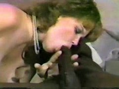 White lady loves that big black cock clip