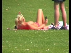 Video of a chick topless in the park movies at kilosex.com