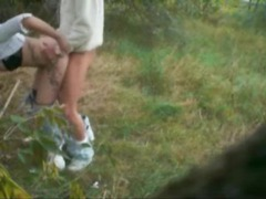 Sexy chick fucked from behind outdoors videos
