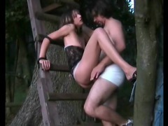 Girl tied up outdoors is fucked by her boyfriend videos