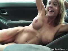 Chick naked as car goes through carwash movies at sgirls.net