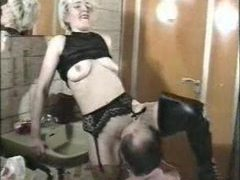 Babe in boots has him eat her and let her ride him movies at kilosex.com